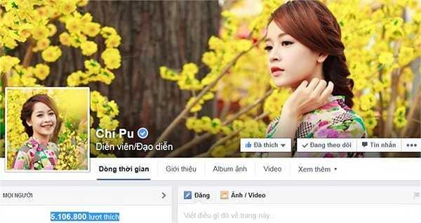 Chi Pu được biết đến trước tiên là một hot girl với những bộ ảnh thời trang dễ thương, nhưng từ khi người đẹp quyết định Nam tiến và chinh phục ước mơ ca hát, đóng phim thì lượng fan của cô tăng lên chóng mặt.