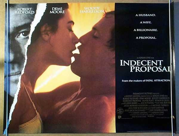 Woody Harrelson và Demi Moore trong 'Indecent Proposal'.