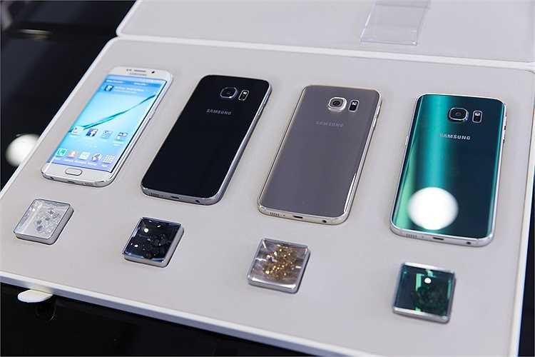 S6 Edge  có các màu sắc trắng, đen, vàng và xanh lục. Máy sẽ được bán ra vào 10/4 tới.
