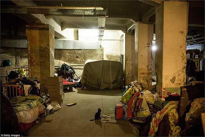 Khu vực sinh sống hiện nay của hàng ngàn người dân Donetsk là dưới hầm