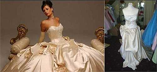 Những chiếc váy cưới hàng hiệu thường tinh xảo, váy hàng may gia công nhái theo thường kém chất lượng