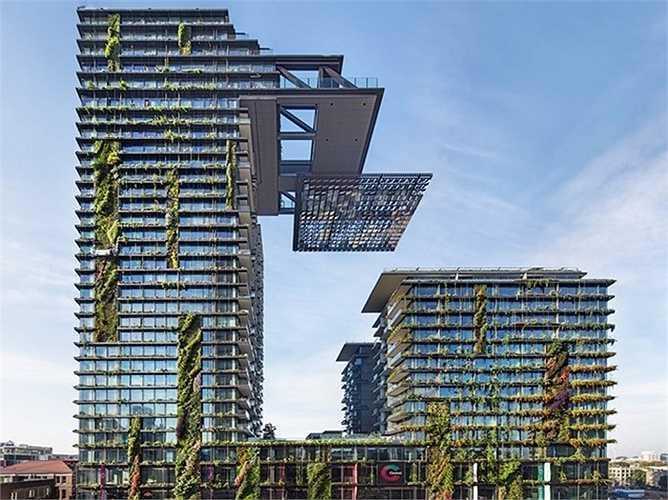 Tòa nhà One Central Park với công viên cây xanh thẳng đứng ở Sydney, Australia, của kiến trúc sư Ateliers Jean Nouvel.