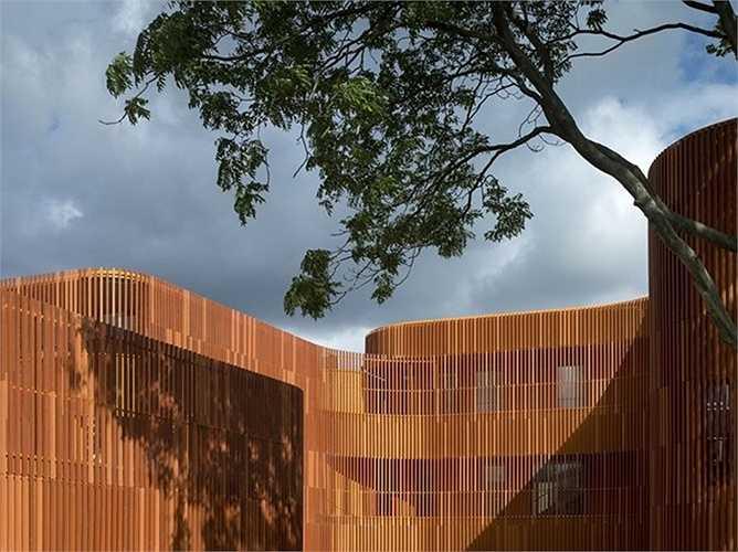 Nhà trẻ Forfatterhuset ở Copenhagen, Đan Mạch, do công ty kiến trúc COBE thiết kế.