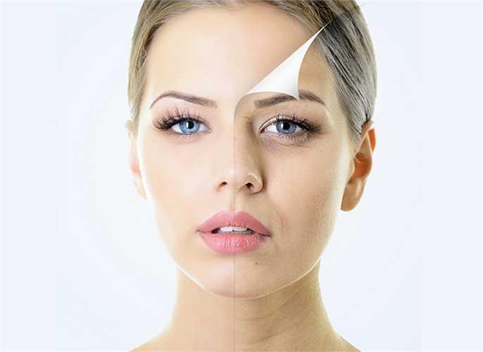 Tiếp xúc với ánh nắng mặt trờì: Khi tiếp xúc với tia cực tím có trong ánh nắng mặt trời làm hình thành các gốc tự do, gây hại tế bào da và giảm tái sinh tế bào mới. Tia cực tím làm thay đổi sắc tố của da, da mất nước và xuất hiện nếp nhăn.