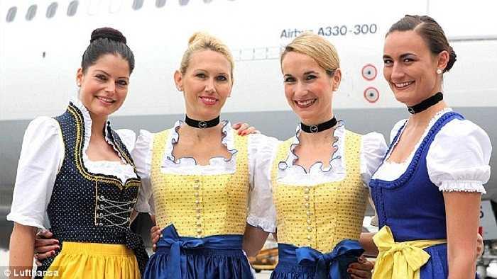 Hãng hàng không Lufthansa có bộ đồng phục được thiết kế dựa trên bộ trang phục dân gian truyền thống của vùng Bravia.