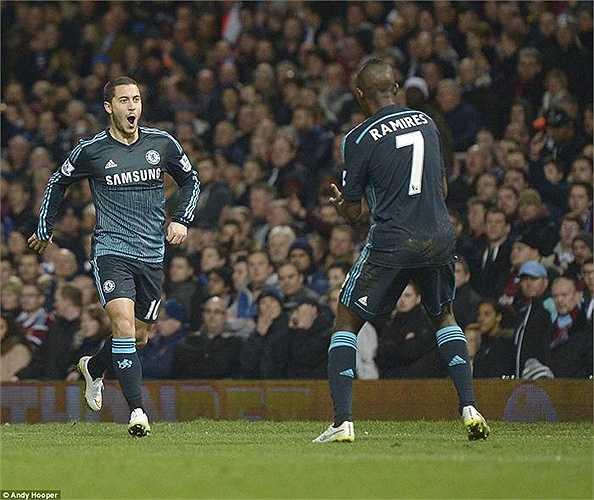 Sau 20 phút dồn ép West Ham, Eden Hazard lập công, mang về bàn thắng duy nhất của trận đấu.