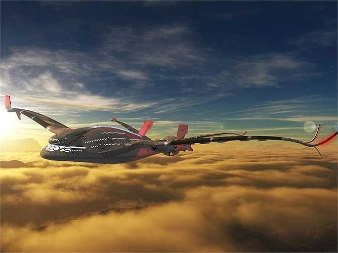 Là sáng tạo của nhà thiết kế Oscar Viñals, chiếc máy bay Eagle (Đại bàng) gồm 3 khoang, có sức chứa 800 người, sử dụng 6 động cơ nhiên liệu hydrogen, bộ phát gió bằng điện ở phía đuôi máy bay.