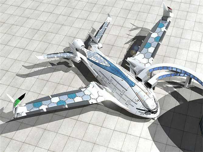 Eagle sẽ có kích thước lớn hơn cả những máy bay lớn nhất hiện nay. Sải cánh máy bay đạt hơn 96m (kỷ lục sải cánh hiện tại là gần 80m thuộc về máy bay Airbus A380). Cánh Eagle còn có thể gập lại để tạo khoảng không cho taxi và việc trữ đồ.