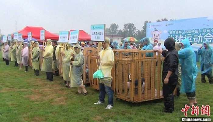 Một cuộc đua khác được tổ chức rất quy củ, chuyên nghiệp ở Trung Quốc.