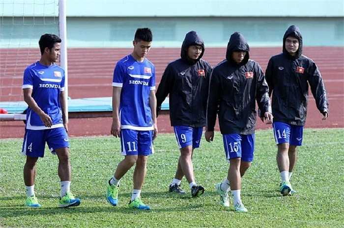 Các cầu thủ chấn thương của đội U.23 Việt Nam.