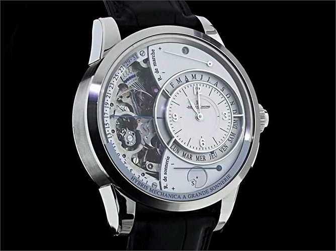 Hybris Mechanica à Grande Sonnerie (Giá: 1,5 triệu USD): Được làm từ hơn 1.400 bộ phận, đây là một trong những chiếc đồng hồ phức tạp nhất trên thế giới.