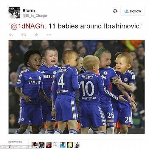 Ibrahimovic cho rằng Chelsea như tập hợp của 11 đứa trẻ