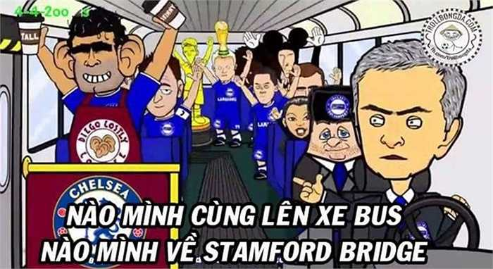 Chiếc xe buýt của Mourinho hết phép