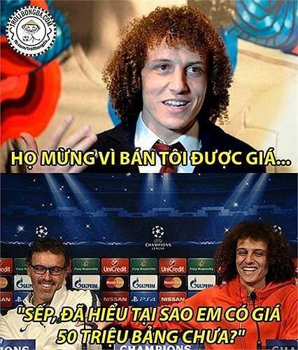 Vì sao David Luiz có giá 50 triệu bảng