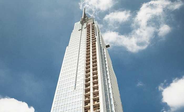 4. Tháp VietcomBank. Địa điểm: TP HCM. Chiều cao: 205 m. Trụ sở mới của Vietcombank rộng 55.000 m2 và sẽ nhìn ra sông Sài Gòn. Dự kiến, tháp sẽ chính thức đi vào hoạt động trong năm 2015.