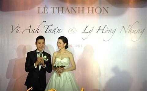 MC Anh Tuấn: Sau 4 năm yêu nhau, đầu năm 2013, đám cưới của MC chương trình Trò chơi âm nhạc Anh Tuấn và cô dâu Lý Hồng Nhung được tổ chức tại Hà Nội.