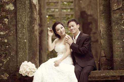 Ảnh cưới của Thanh Thanh Hiền và Chế Phong được thực hiện từ năm ngoái ở Ba Vì.
