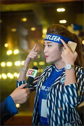 Huyền My vốn được biết đến như một trong những CĐV Chelsea nổi tiếng nhất không chỉ ở Việt Nam mà còn trên thế giới.