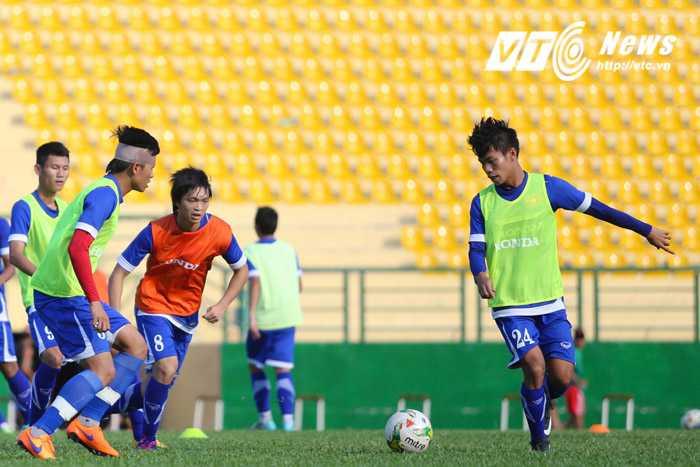 U23 Việt Nam tập chăm chỉ (Ảnh:VSI)