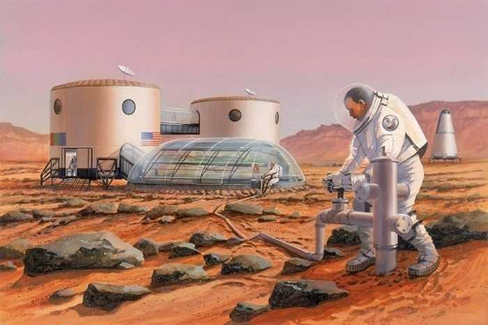 Cũng theo Hiệp hội Sao hỏa, hàng triệu người có thể sẽ sống trên Sao hỏa, và nhiều cabin sinh sống kết hợp với nhau được dựng lên để lập thành một cộng đồng lớn.