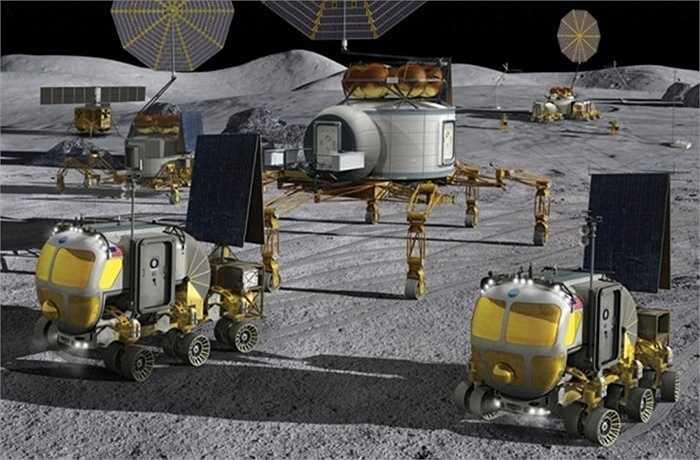 Thiết bị Do thám Không gian 8 chân Athlete của NASA vào năm 2009. Athlete sẽ đóng vai trò vận chuyển các cabin sinh sống trong những chuyến đi dài cách xa trạm chính.