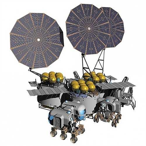 Thiết kế một trạm nghiên cứu cố định dành cho NASA của Kriss Kennedy, Larry Toups và Scott Howe.