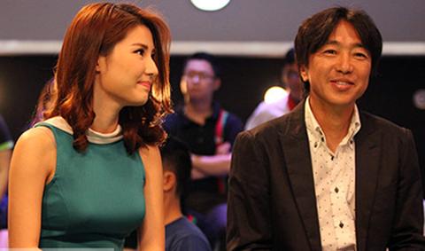 HLV Miura hồi hộp khi ngồi cạnh diễn viên Diễm My