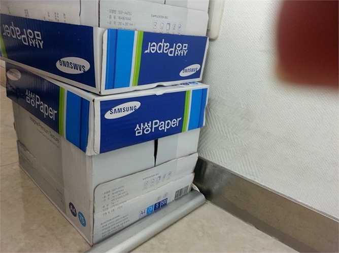 Giấy dùng trong bệnh viên cũng do Samsung sản xuất
