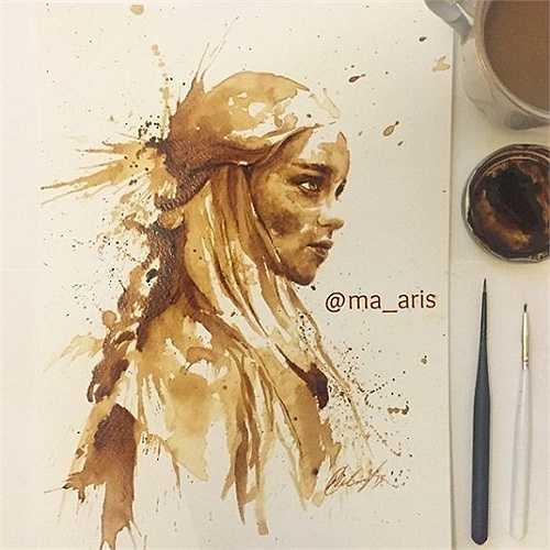 Những bức tranh cà phê này nằm trong một dự án nghệ thuật của Maria