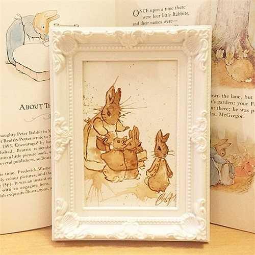Bức tranh này được lấy cảm hứng từ bộ truyện, series phim hoạt hình Peter Rabbit