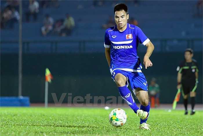 Tiền vệ của Hà Nội T&T là một trong 3 cái tên vừa lên tuyển cùng với Văn Long (SHB Đà Nẵng) và Văn Thanh (HAGL) (Ảnh: Vietnamplus)