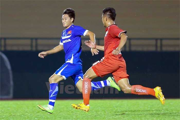Nhìn chung những gì mà U23 Việt Nam đã thể hiện trước Đồng Nai khiến nhiều người chưa thể yên tâm. (Ảnh: Vietnamplus)