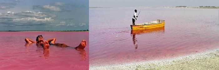 Hồ Retba, Senegal nổi tiếng với nước màu hồng