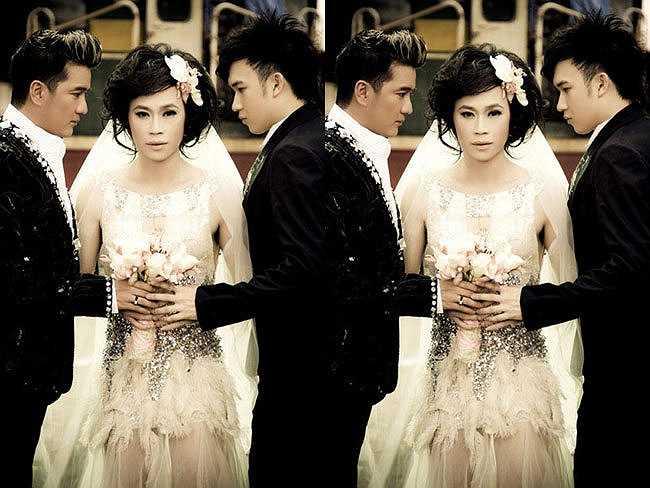 Dương Triệu Vũ và Mr Đàm cùng Hoài Linh còn từng thực hiện bộ ảnh cưới gây shock dư luận