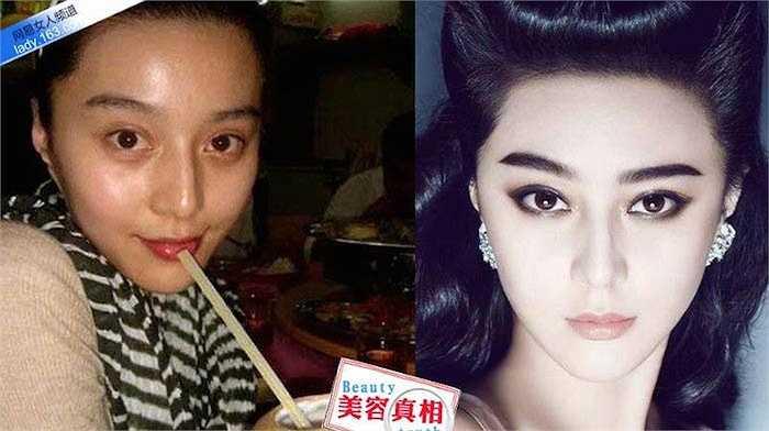 Gương mặt cô nhợt nhạt, đối lập hoàn toàn với dung nhan sắc lạnh khi make up.