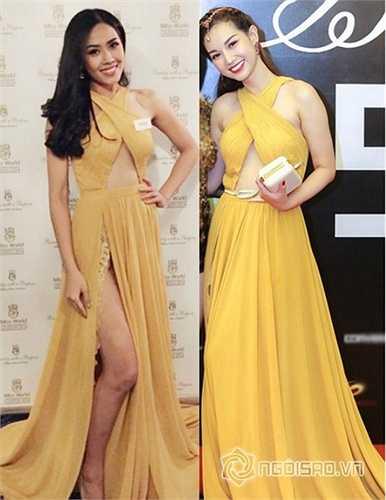 Nguyễn Thị Loan gợi cảm trong thiết kế của Lê Thanh Hòa khi tham dự Miss World 2014.  Thiết kế mang lại vẻ đẹp như nữ thần này cũng được hotgirl Quỳnh Chi yêu thích. Nguồn: Ngoisao.vn