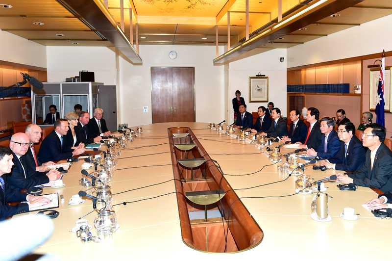 Thủ tướng Chính phủ Nguyễn Tấn Dũng hội đàm với Thủ tướng Australia Tony Abbott