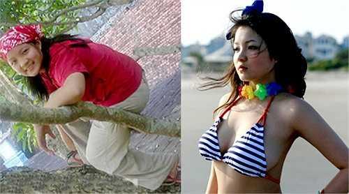 Khó ai có thể nhận ra hai bức hình này đều là Thuỷ Top, một của quá khứ, một của hiện tại