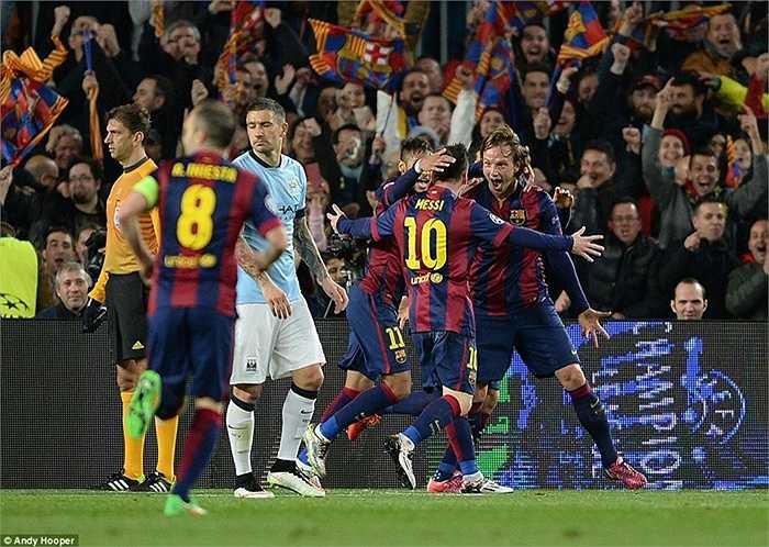 Barca chính thức đá bay đại diện cuối cùng của người Anh khỏi vòng 1/8