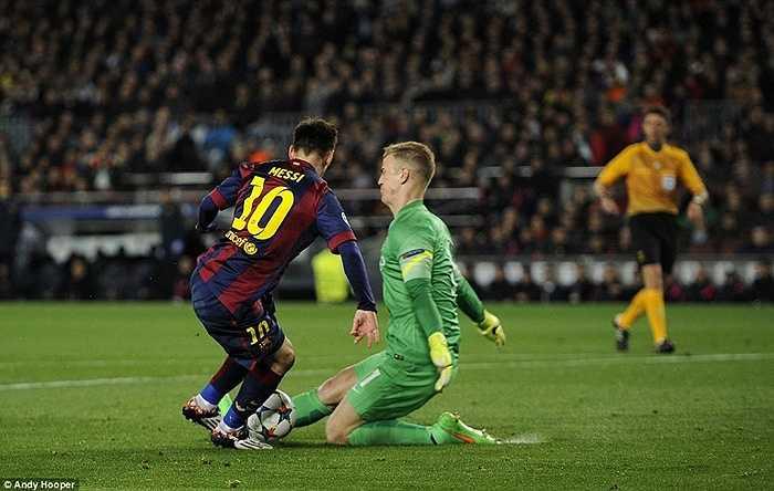 Messi đêm qua đá hay nhưng anh lại không ghi được bàn nào