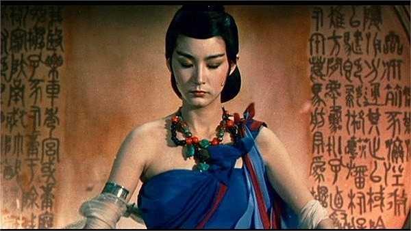 Tạo hình tiên nữ gợi cảm của Lâm Thanh Hà trong bộ phim Thục sơn.