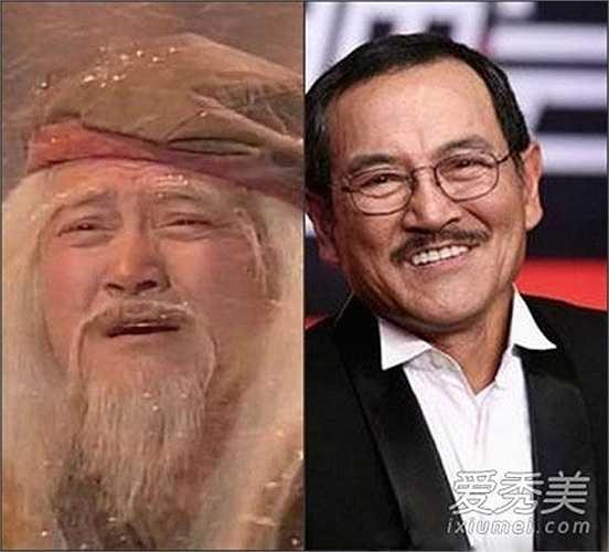 'Hồng Thất Công' Lưu Đan dù tuổi cao nhưng vẫn hoạt động tích cực trong làng giải trí. Ông là bố của nam tài tử Lưu Khải Uy.