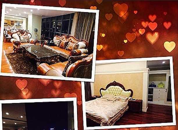 Phòng ngủ và phòng khách được trang trí lộng lẫy và sang trọng.