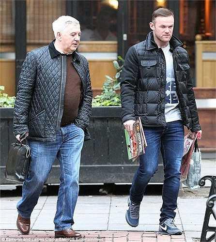 Rooney và người đại diện Paul Stretford.