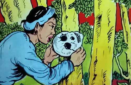"""Hình ảnh minh họa truyện """"Sọ Dừa"""", ấn bản của NXB Hồng Đức."""