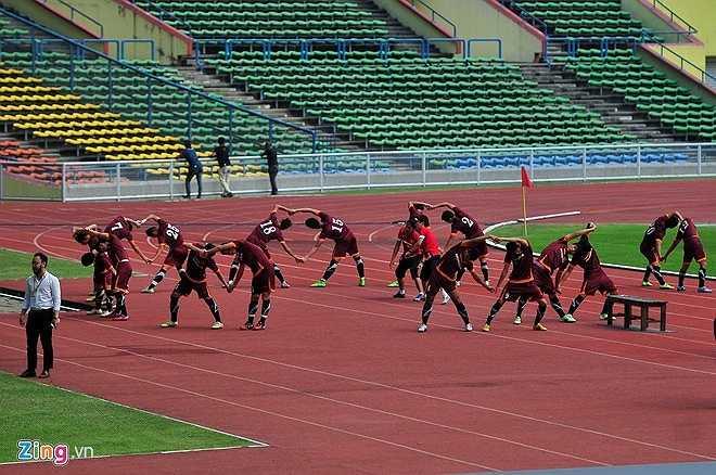 Đây là buổi tập cuối cùng của U23 Việt Nam trước trận đấu quyết tử với U23 Malaysia