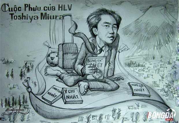 Sự hợp tác sâu rộng giữa hai nền bóng đã Việt – Nhật là cơ sở để Miura đến dải đất hình chữ S làm HLV. (Tranh: An Thắng)