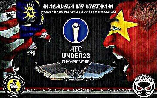 Poster cổ động trước trận U23 Malaysia - U23 Việt Nam.