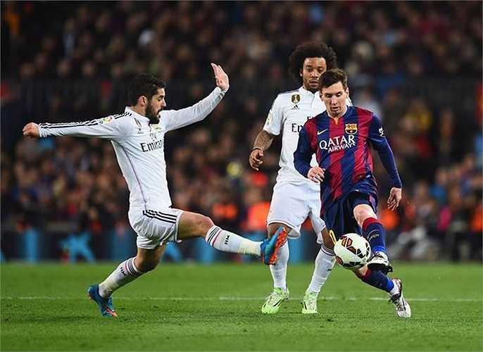 Những pha rê dắt tuyệt kĩ của Messi.