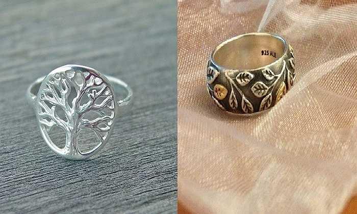 Nhẫn cá tính hình cây có nhiều mức giá, từ 60.000 đồng đến 300.000 đồng/chiếc.